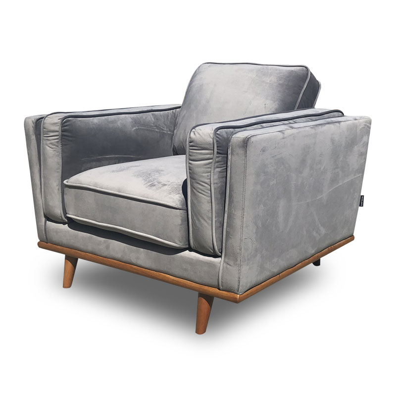 DAHLIA VELVET ONE SEATER SOFA