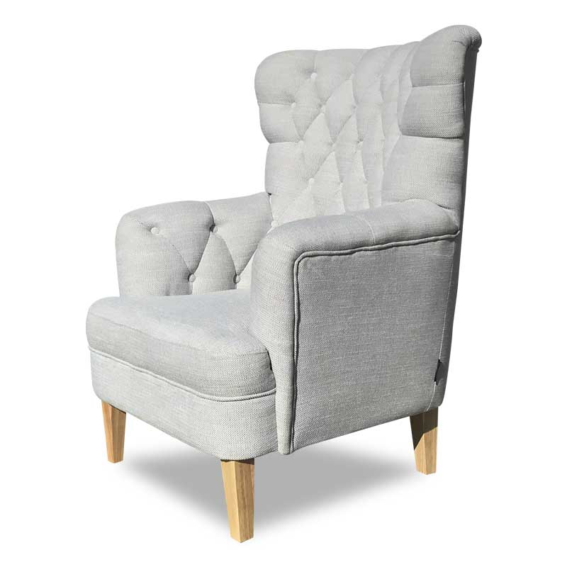 ADRIAN CHAIR STEEL GREY MARLO FABRIC