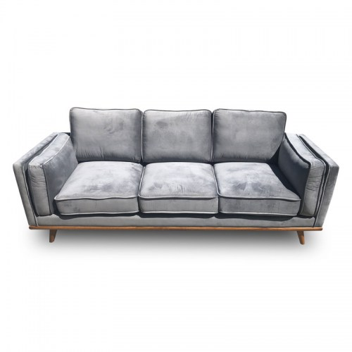 DAHLIA VELVET THREE SEATER SOFA