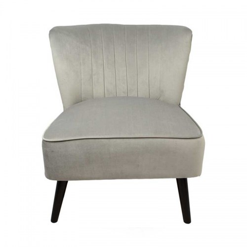MARILYN VELVET ACCENT CHAIR - GREY