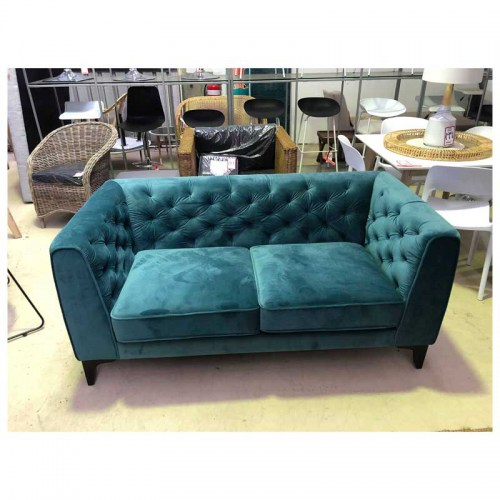 PARIS VELVET TWO SEATER SOFA