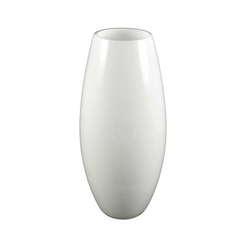 ROUND GLASS VASE WHITE - MEDIUM Homewares Stores Perth WA