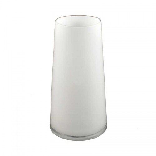 ROUND WHITE GLASS TAPER VASE - LARGE Homewares Stores Perth WA