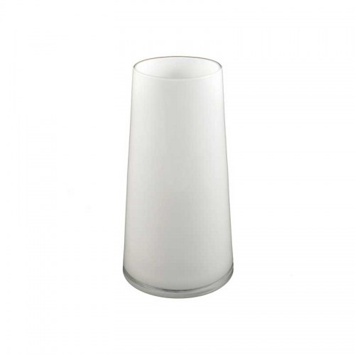Round White Glass Taper Vase Medium Homewares Perth Stores Sadler's Home