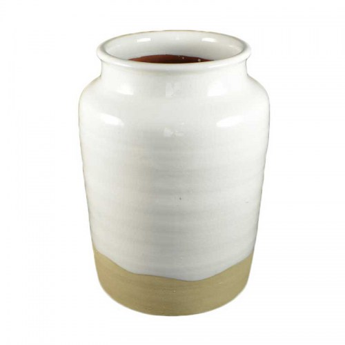 ROUND WHITE NAT POT VASE Homewares Stores Perth WA