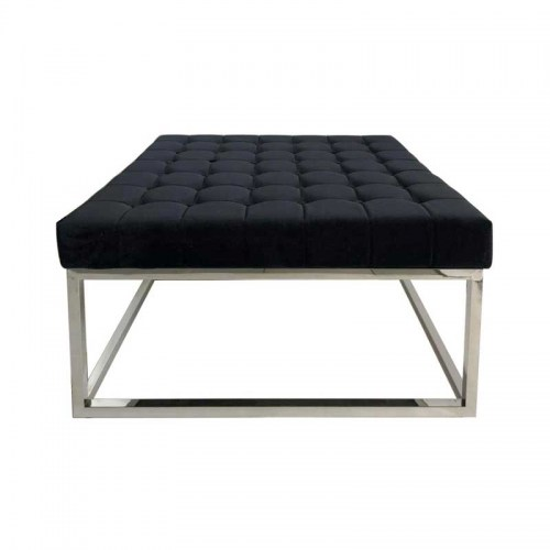 ROZA OTTOMAN - BLACK VELVET Furniture Perth WA