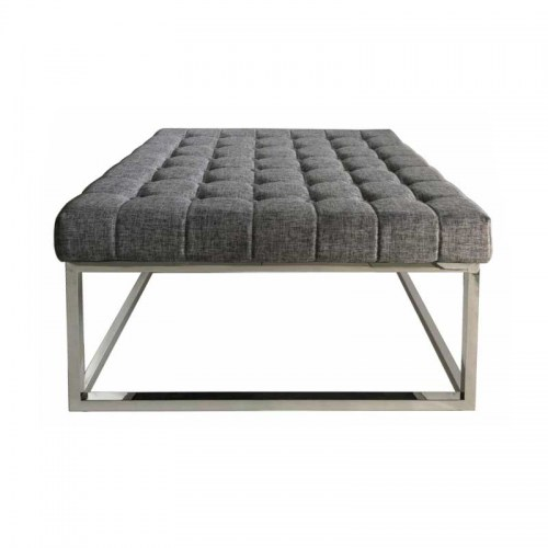 ROZA OTTOMAN - LIGHT GREY LINEN Furniture Perth WA